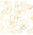 cherry sakura flowers bloom blossom seamless vector image vector image