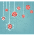 Christmas background design with hand drawn vector image vector image