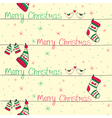 christmas seamless pattern with red green birds vector image vector image