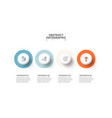 circles with shadows infographic template vector image vector image