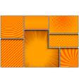comic orange frames composition vector image vector image