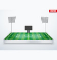 Concept of miniature tabletop football stadium vector image vector image