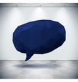 Dark geometric speech bubble in white room vector image vector image
