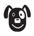dog face emotion icon sign design vector image