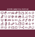 doodle gadget icons set vector image vector image