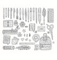 drawing accessoriesoutline set doodle vector image vector image