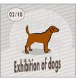 exhibition of dogs vector image