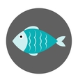 Fish flat icon vector image vector image