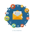 Flat design business marketing composition