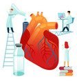 flat large human heart on a vector image vector image