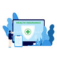 health insurance healthcare business vector image vector image
