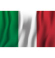 italy realistic waving flag national country vector image