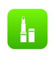 lipstick icon digital green vector image vector image
