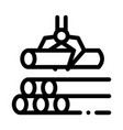 loading timber wood machine icon outline vector image vector image