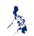 map philippines in blue colour vector image vector image