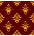 Maroon and orange seamless floral pattern vector image vector image