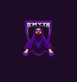 masked wizard gaming mascot logo vector image vector image