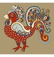 original retro cartoon chicken drawing symbol of vector image vector image