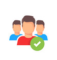 people group with checkmark icon success vector image vector image