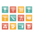 picnic barbecue and grill icons vector image vector image