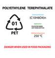 polyethylene terephthalate lavsan plastic marking vector image vector image