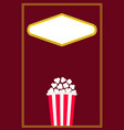 popcorn movie night cinema icon pop corn food vector image