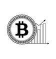 price bitcoin up line style vector image vector image