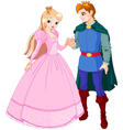 prince and princess vector image vector image