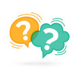 question mark speech bubble on white background vector image vector image