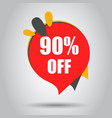 sale 90 off discount price tag icon business vector image