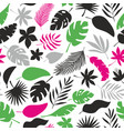 seamless pattern with colorful tropical leaves and vector image vector image