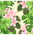 seamless texture tropical flowers rhododendron vector image vector image