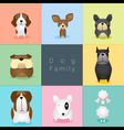 Set of dog family 2 vector image vector image