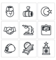 Set of Turkey and Russia Icons Turk Gas vector image vector image