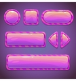 set pink funny buttons vector image