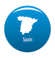 spain map in black simple vector image