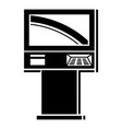 street atm icon simple style vector image vector image