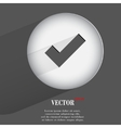 tick Flat modern web button with long shadow and vector image vector image