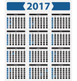 USA calendar 2017 - with official holidays vector image