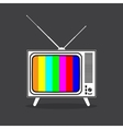 Vintage retro TV in black and white vector image vector image
