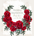 wedding roses wreath beautiful red flowers vector image
