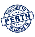 welcome to perth blue round vintage stamp vector image vector image