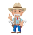 Wise Sheriff cartoon character in Wild West vector image