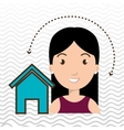 woman home page web vector image