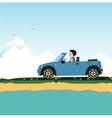 Women driving vector image vector image