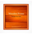 Wooden board with frame vector image vector image
