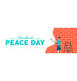 world peace day web banner for children freedom vector image vector image