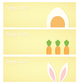 Yellow Easter banners vector image