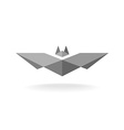 Bat geometric logo vector image