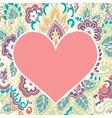 Happy Valentines Day congratulations card vector image